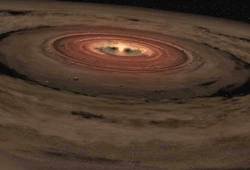Artist's impression of a protoplanetary disk. Credit: NASA